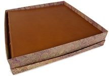 Picture of Chianti Handmade Italian Leather Bound Extra Large Photo Album Saddle Brown