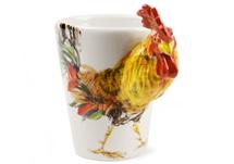 Picture of Chicken Handmade 8oz Coffee Mug Yellow And Orange
