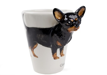 Picture of Chihuahua Handmade 8oz Coffee Mug Black