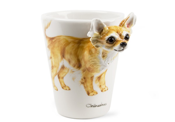 Picture of Chihuahua Long-haired 8oz Fawn Handmade Coffee Mug
