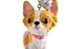 Picture of Chihuahua Long-haired Handmade Mini Key Ring Fawn