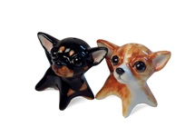 Picture of Chihuahua Handmade Mini Cruet Set Fawn and Black