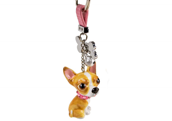 Picture of Chihuahua Handmade Mini Key Ring Fawn