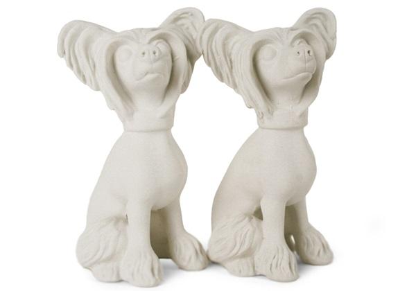 Picture of Chinese Crested Handmade Unpainted Ceramics Mini Unpainted Cruet Set Unglazed