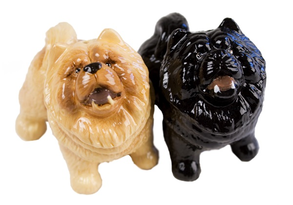 Picture of Chow Chow Handmade Mini Cruet Set Fawn And Black