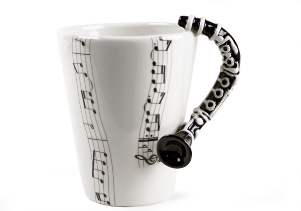 Picture of Clarinet Handmade 8oz Coffee Mug Black
