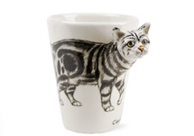 Picture of Classic Tabby 8oz Grey Marbled Handmade Coffee Mug