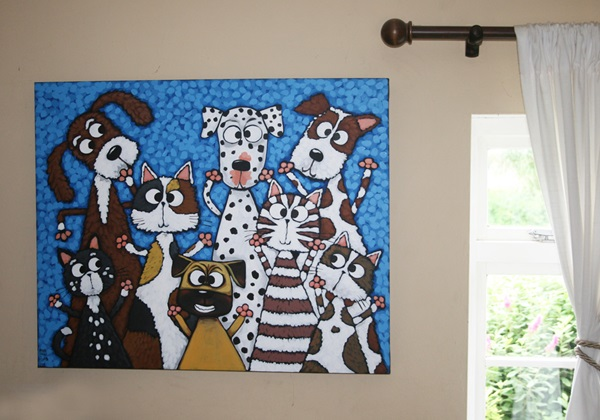 Picture of Cool Art BUDDY WOOF Extra Large Painting Blue