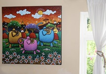 Picture of Cool Art ''holly Ele'' Extra Large Painting Golden Sun