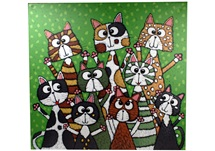 Picture of Cool Art ''fur Buddy'' Extra Large Painting Green