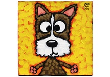 Picture of Cool Art ''dizzee'' Small Tablet Cognac Honey