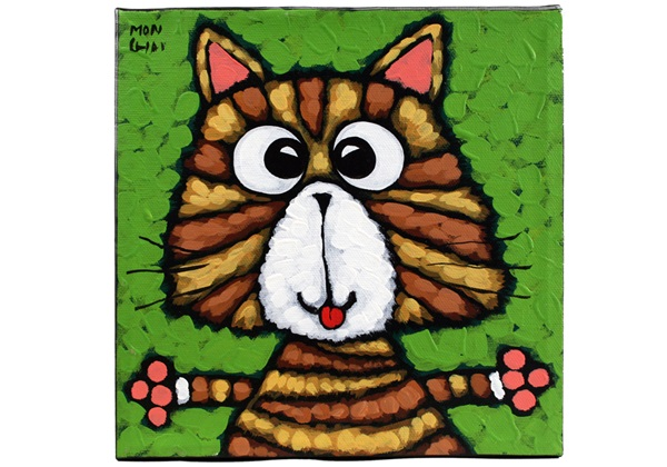 Picture of Cool Art Hand Painted Acrylic Small Painting STRIPY