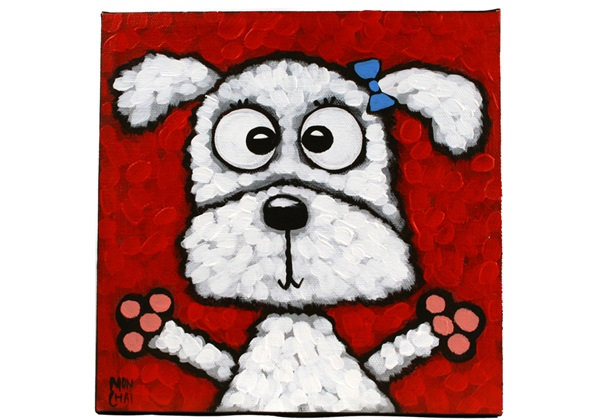Picture of Cool Art ''snowie'' Small Tablet Red Golden