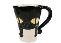 Picture of Coraline Handmade Ceramic 12oz Coffee Mug Black