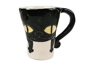 Picture of Coraline Handmade Ceramic 12oz Coffee Mug Black