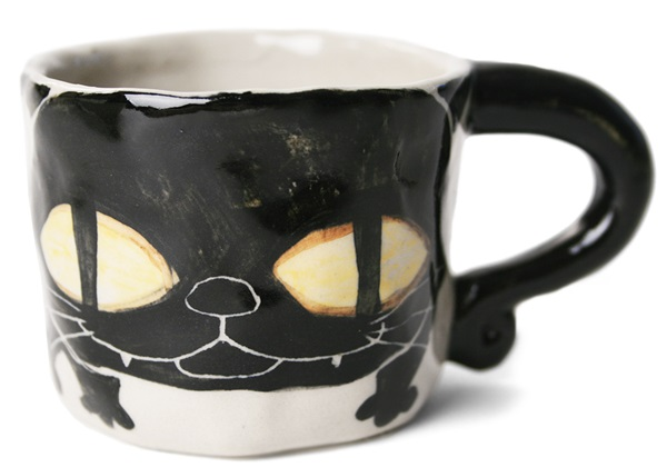 Picture of Coraline Handmade Ceramic 2oz Espresso Cup Black
