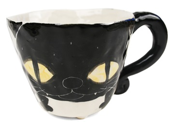 Picture of Coraline Handmade Ceramic 8oz Coffee Mug Black