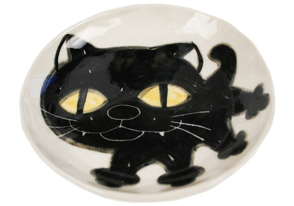 Picture of Coraline Handmade Ceramic Side Plate Black