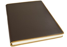 Picture of Cortona Handmade Italian Leather Bound A4 Journal Chocolate Plain