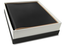 Picture of Cortona Handmade Italian Leather Bound Medium Photo Album Black