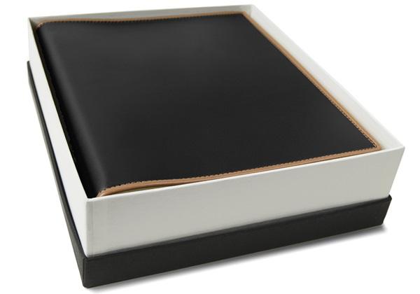 Picture of Cortona Handmade Italian Leather Bound Medium Photo Album Black