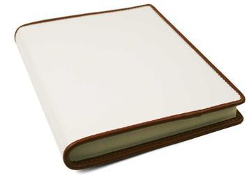 Picture of Cortona Handmade Italian Leather Bound A6 Journal White Plain