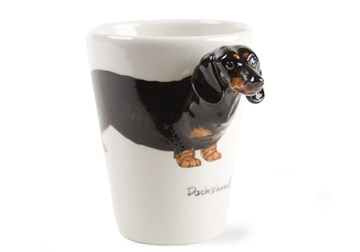Picture of Dachshund Handmade 8oz Coffee Mug Black
