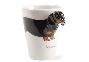 Picture of Dachshund Handmade 8oz Coffee Mug Black