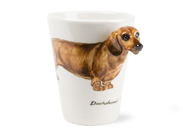 Picture of Dachshund Handmade 8oz Coffee Mug Tan