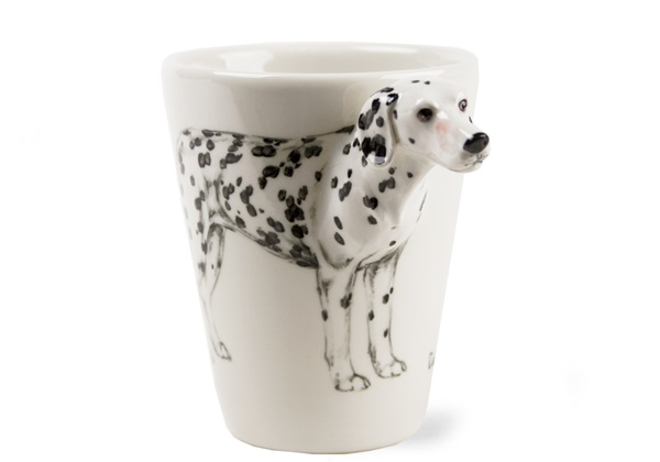 Picture of Dalmatian Handmade 8oz Coffee Mug Black And White