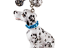 Picture of Dalmatian Handmade Mini Key Ring Black And White