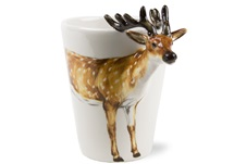 Picture of Deer Handmade 8oz Coffee Mug Brown