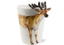 Picture of Deer Handmade 8oz Coffee Mug Brown
