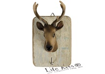 Picture of Deer Handmade Rustic Single Wall Hook Deer Brown