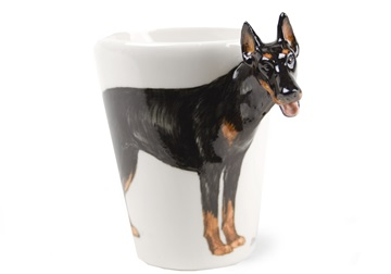 Picture of Doberman Handmade 8oz Coffee Mug Black