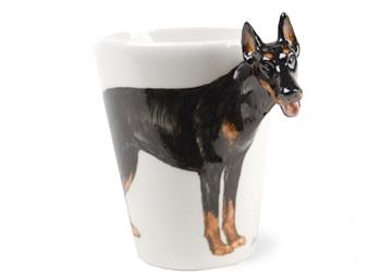 Picture of Doberman Handmade 8oz Coffee Mug Black