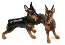Picture of Doberman Handmade Mini Cruet Set Black