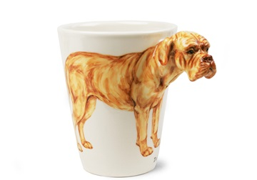Picture of Dogue De Bordeaux Handmade 8oz Coffee Mug Fawn