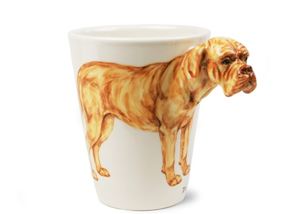 Picture of Dogue De Bordeaux Handmade 8oz Coffee Mug Fawn