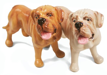 Picture of Dogue De Bordeaux Handmade Mini Cruet Set Fawn