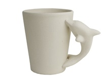 Picture of Dolphin Handmade Ceramic 8oz Coffee Mug Unpainted