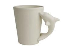 Picture of Dolphin Handmade Ceramic 8oz Coffee Mug Unpainted