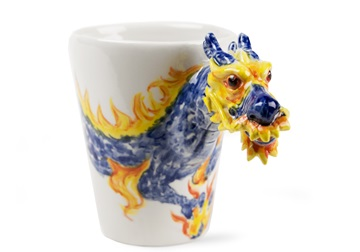 Picture of Dragon Handmade 8oz Coffee Mug Blue