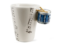 Picture of Drum Handmade 8oz Coffee Mug Blue