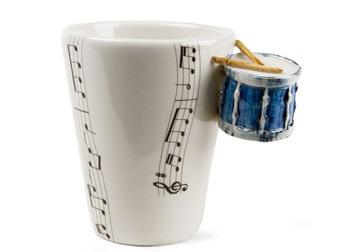 Picture of Drum Handmade 8oz Coffee Mug Blue