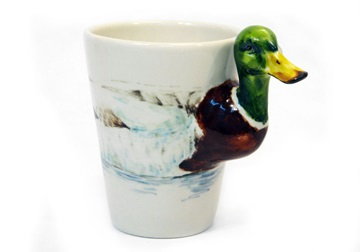 Picture of Duck 8oz Jade Handmade Coffee Mug