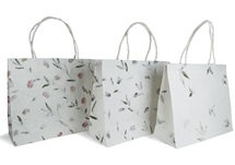Picture of Eco Handmade Extra Large Gift Bags Bougainvillea, Iris and leaves