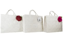 Picture of Eco Handmade Musical Rose Extra Large Gift Bags Vintage White
