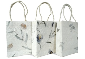 Picture of Eco Handmade Small Gift Bags Bougainvillea, Iris and leaves