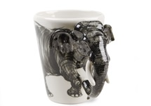 Picture of Elephant Handmade 8oz Coffee Mug Grey